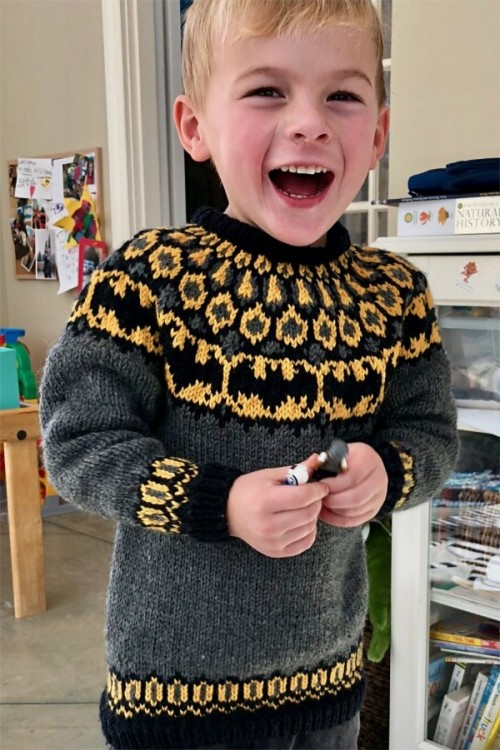 Batman Sweater - Free Pattern