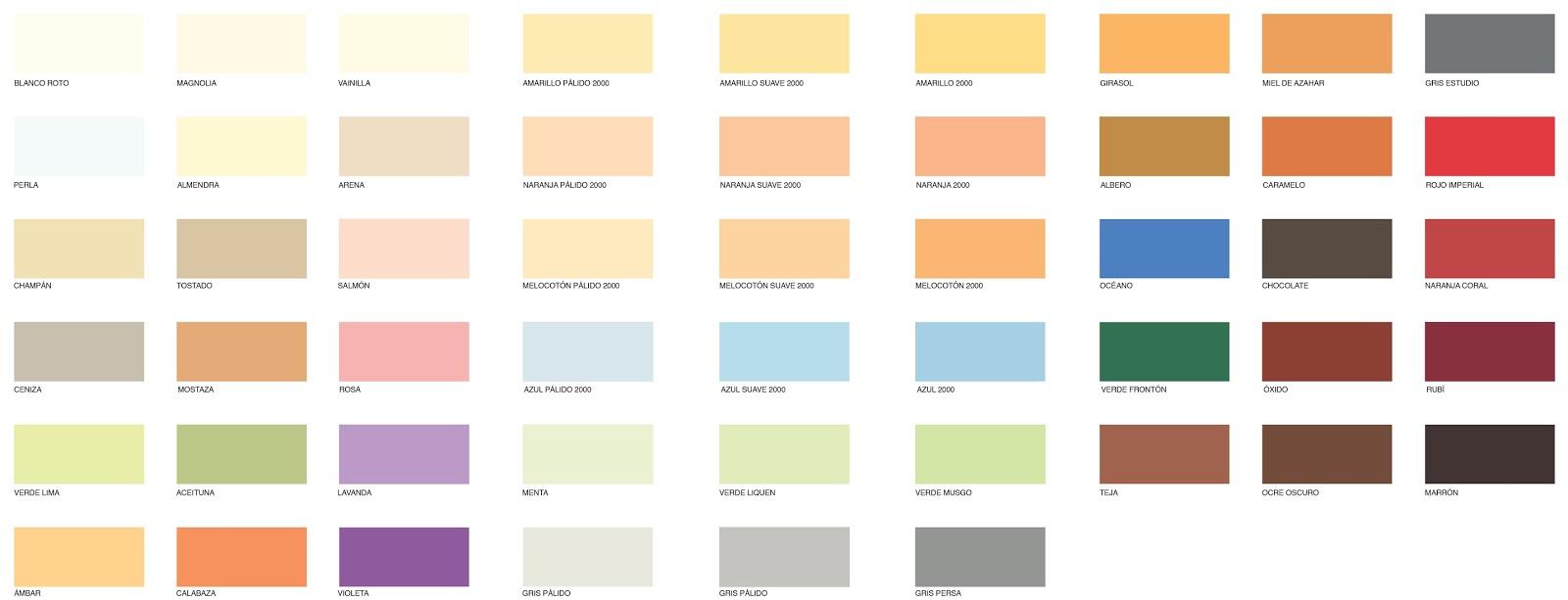 El rinc n de dibujo art stico nombres y paletas de colores - Nombres de colores de pinturas ...