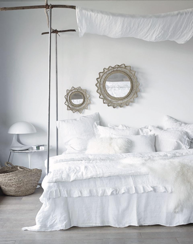 Atelier rue verte le blog ce matin j 39 ai aim 17 maison de vacances - Linge de lit carre blanc ...