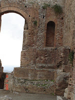 Photo of an archway in the Greek Theatre Taormina Sicily