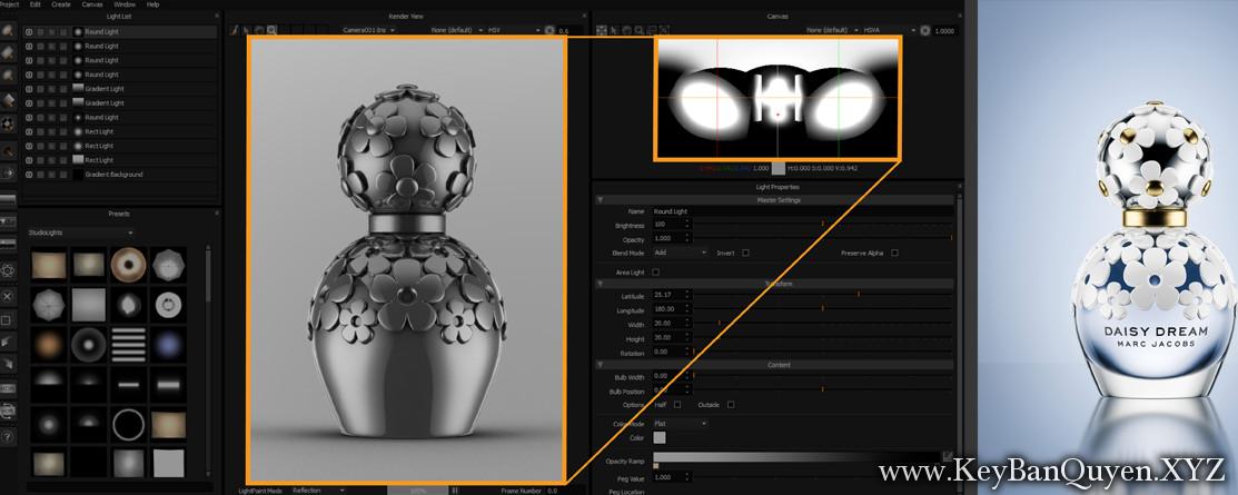HDR Light Studio 5.4.2 Full Key , Phần mềm chiếu sáng 3D cho người thiết kế