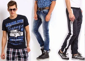Flat 60% Off on HRX, Roadster, Jogur T-Shirts | Jeans | Track Pants | Shorts | Shirts starts Rs.159 @ Flipkart