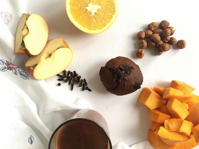 Dyniowe babeczki z czekoladą