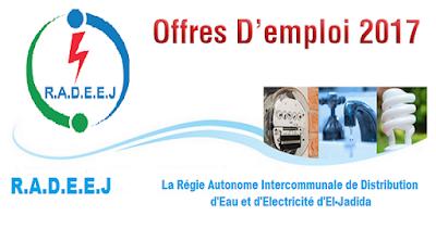 Recrutement (32) postes à la RADEEJ (Electricité - Électromécanique - Électrotechnique - Logistique - Finance - Gestion - Commerce) – توظيف (32) منصب