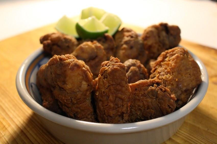 Asinhas de frango fritas