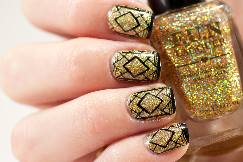 Glitter New Year\'s Eve Nails - May contain traces of polish