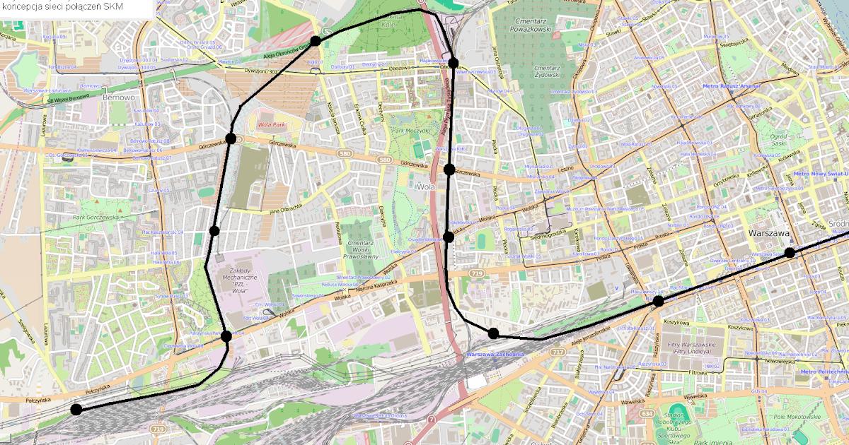 47c68fd66d22b GazetaWarszawska.pl Dział Wydarzeń: Galeria: propozycje nowych linii  Szybkiej Kolei Miejskiej