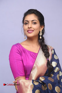 Madhu Shalini looks super cute beautiful in Purple Backless Salwar