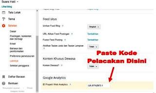 Memasang Kode Pelacakan Google Analytics