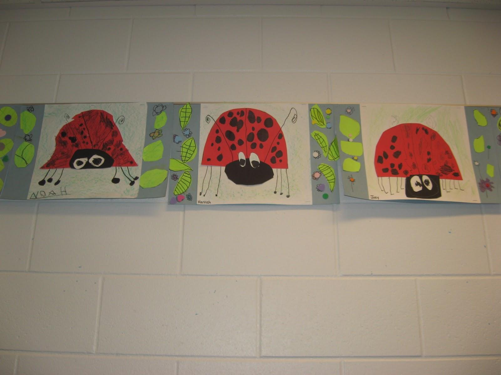 Jamestown Elementary Art Blog Kindergarten Cut And Paste Ladybugs