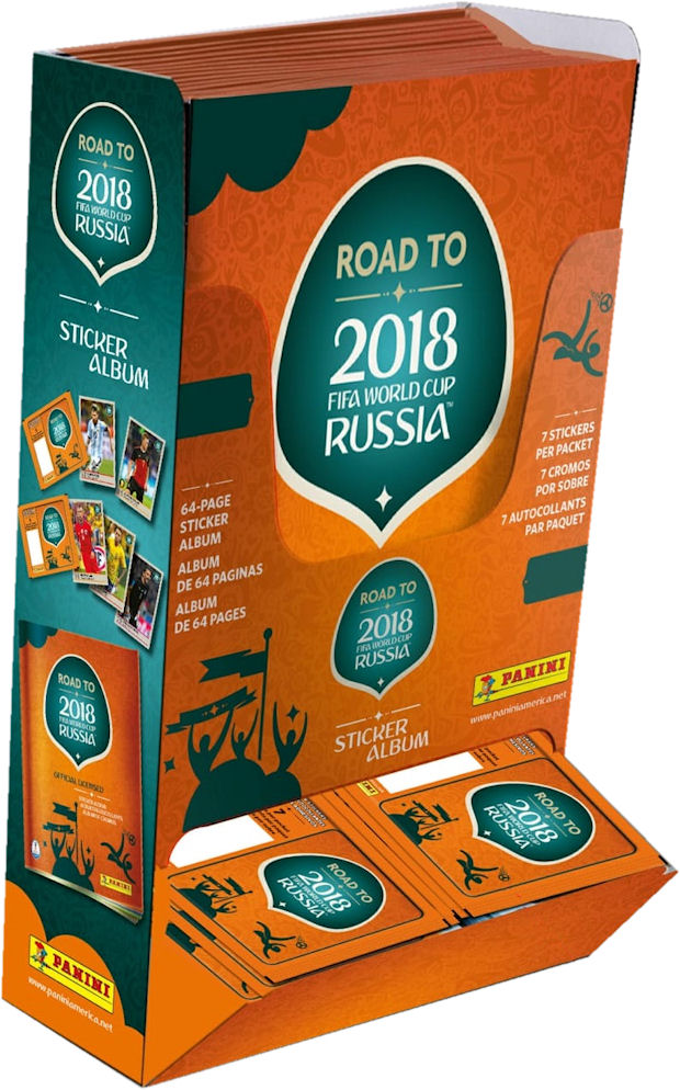 bb874a7d8 Panini - Road to 2018 FIFA World Cup Russia sticker collection (03) -  Counter Display Box - USA