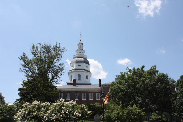 Maryland State House in summer