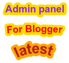 How to add an admin control panel in blog(Updated)