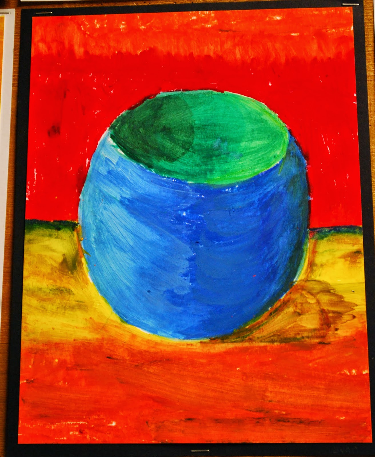Make It A Wonderful Life Oil Pastel Vases Bowls And