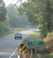 Crossing Ellerbe's Creek onto the land formerly owned by William Reeves