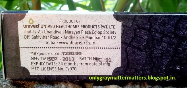 Dear Earth Bamboo Charcoal Soap Price