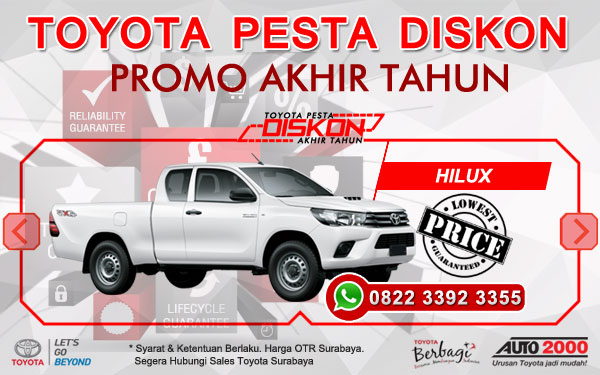 Promo Akhir Tahun Toyota Hilux Surabaya