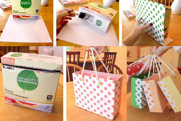 mısır gevreği kutusundan el çantası yapımı