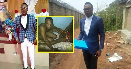 Unbelievable!!! Popular Church Minister Caught Pants Down Having Gay S*x With Another Man In Delta (Phot
