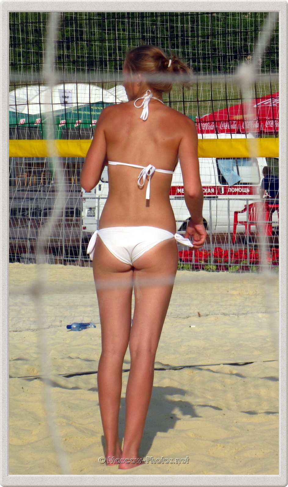 Barefoot Volleyball Girl and Hot Moscow Summer