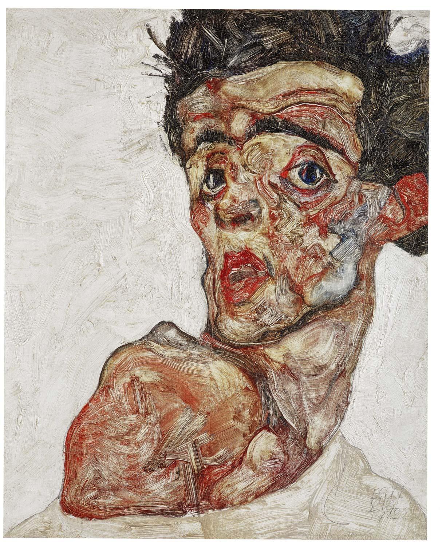 Egon Schiele  - Autorretrato