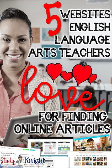 teaching smiling with five free websites for students - teachers love finding online articles