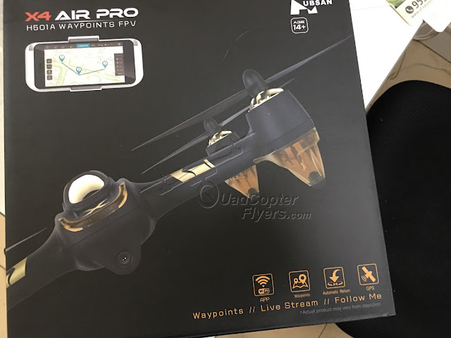 Hubsan H501A unboxing Package