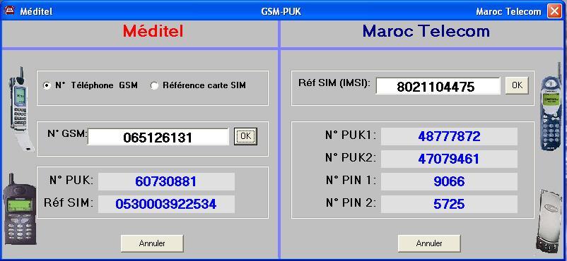 gsm puk maroc telecom