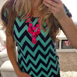 Chevron Top and Bauble Necklace