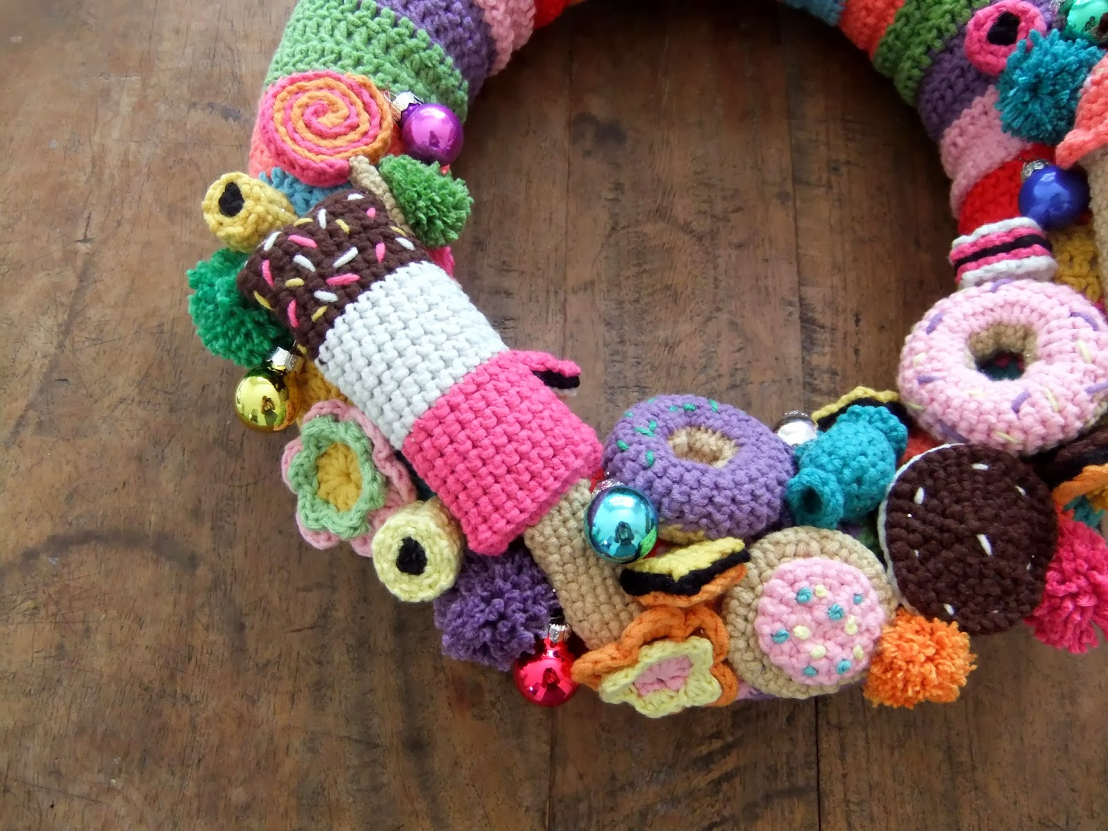 I Love Buttons By Emma Crochet Christmas Wreath