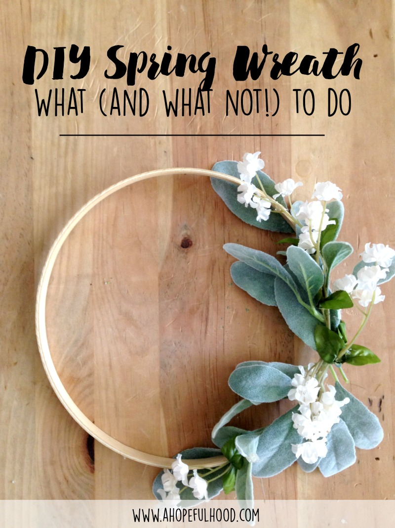 The easiest spring DIY wreath to try...including secret tricks to make it all work!