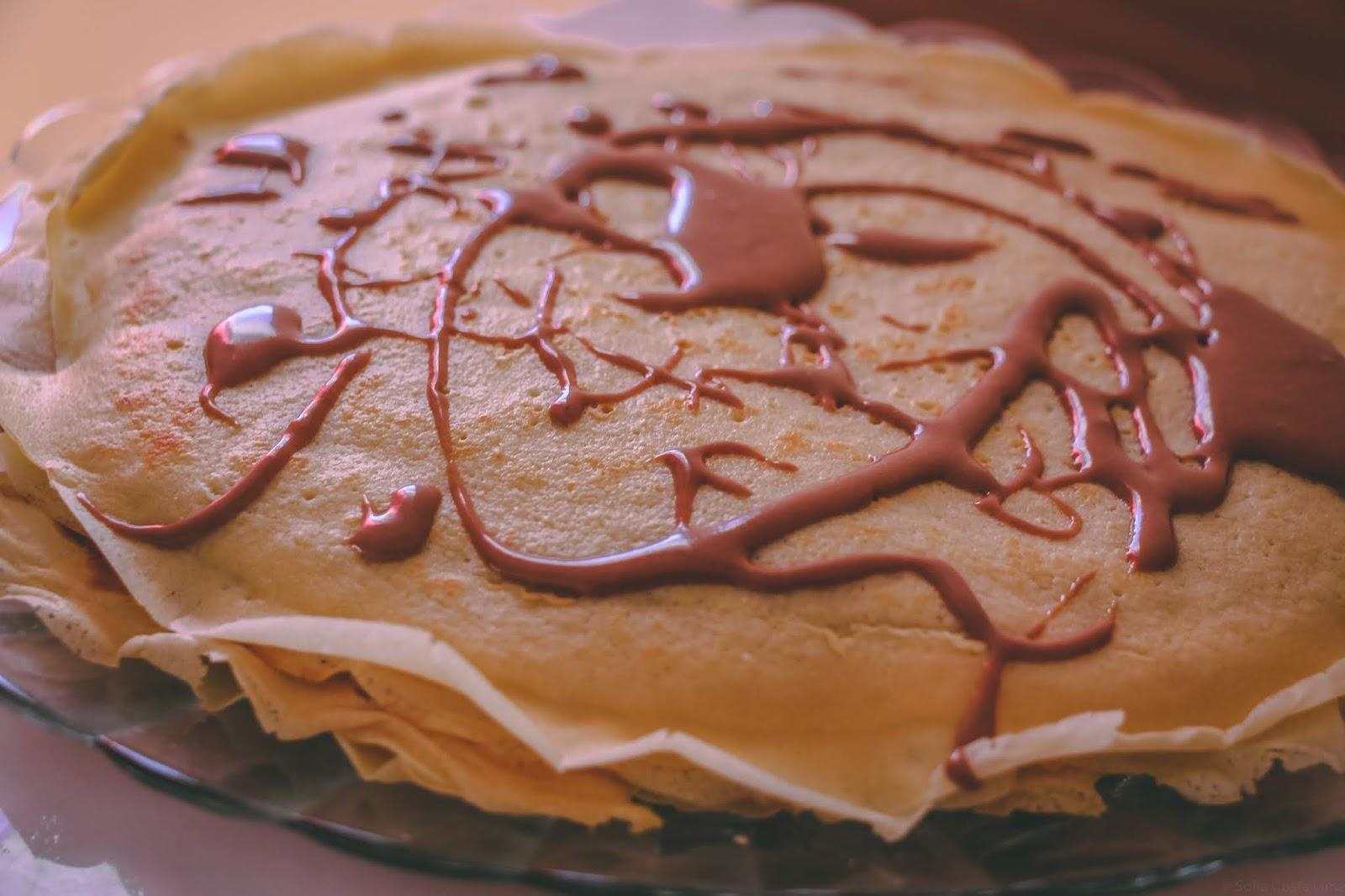 #masterchefcádosítio versão World Nutella Day - Bolo de Crepes com Nutella