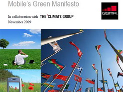 Green Manifesto launched by GSMA for the Mobile Industry