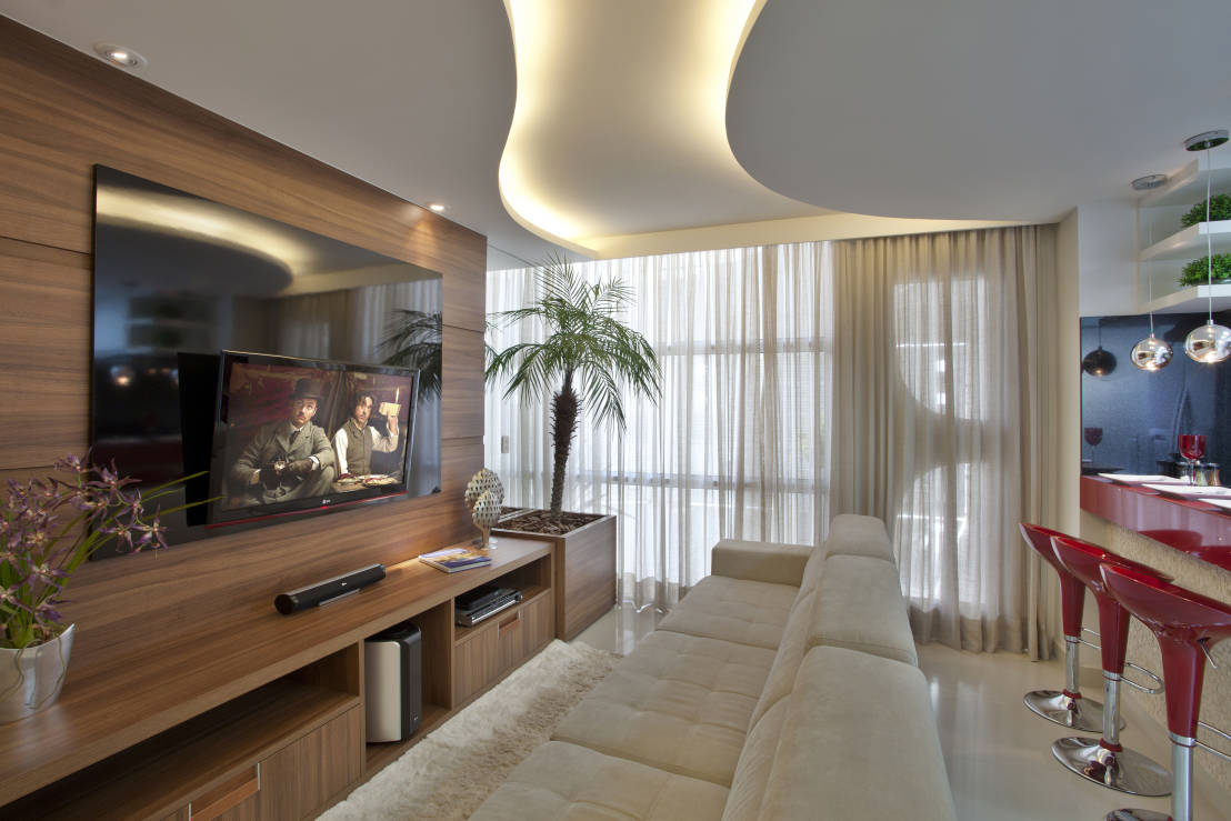 Construindo Minha Casa Clean Consultoria De Decora O Sala De  -> Vasos Na Sala De Tv