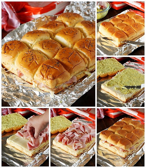 How to make Classic Ham & Cheese Party Sandwiches image