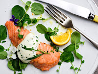 Wild King Salmon With Savory Whipped Cream