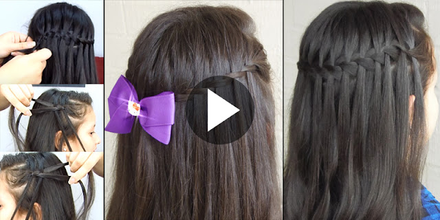 Learn - How To Create 2 Types Waterfall Braid, See Tutorial