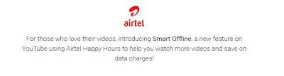 How to Start using 'Youtube smart offline'  in Airtel - Save Youtube data on Airtel