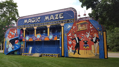 Magic Maze set up on Town Common