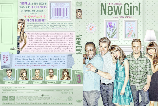 New Girl Season 3 DVD Cover
