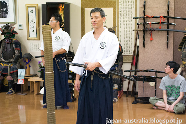 The Iaido Instructors in Action
