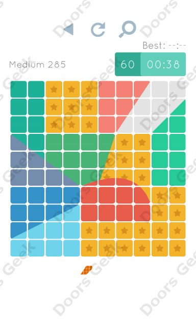 Cheats, Walkthrough for Blocks and Shapes Medium Level 285