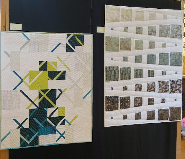 Vinyle par Sophie Zaugg et Poya Contemporaine par Danielle Hugonnet - Exposition de quilts - Patchmania 2017 à L'Abbaye