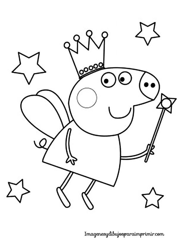 Colorear Peppa Pig Imágenes Y Dibujos Para Imprimir