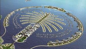 gencarnya mempromosikan diri di sektor pariwisatanya PULAU BUATAN PALEM RAKSASA DI DUBAI
