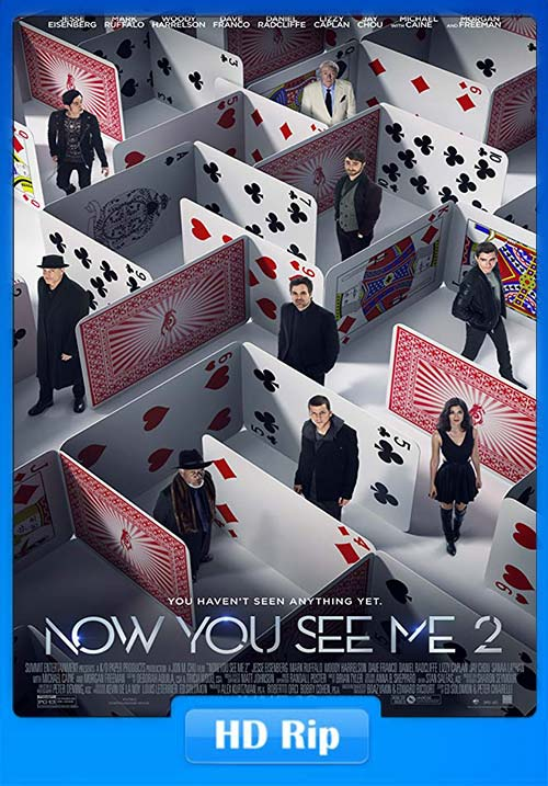 Now You See Me 2 2016 Hindi 720p BluRay ESubs Dual Audio English x264 | 480p 300MB | 100MB HEVC Poster