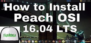 Peach OSI 16.04 Linux