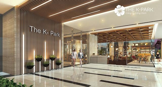Phối cảnh sảnh tầng 1 chung cư The K - Park