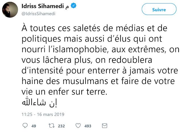 Idriss Sihamedi, fiché S, menace des politiques et des médias