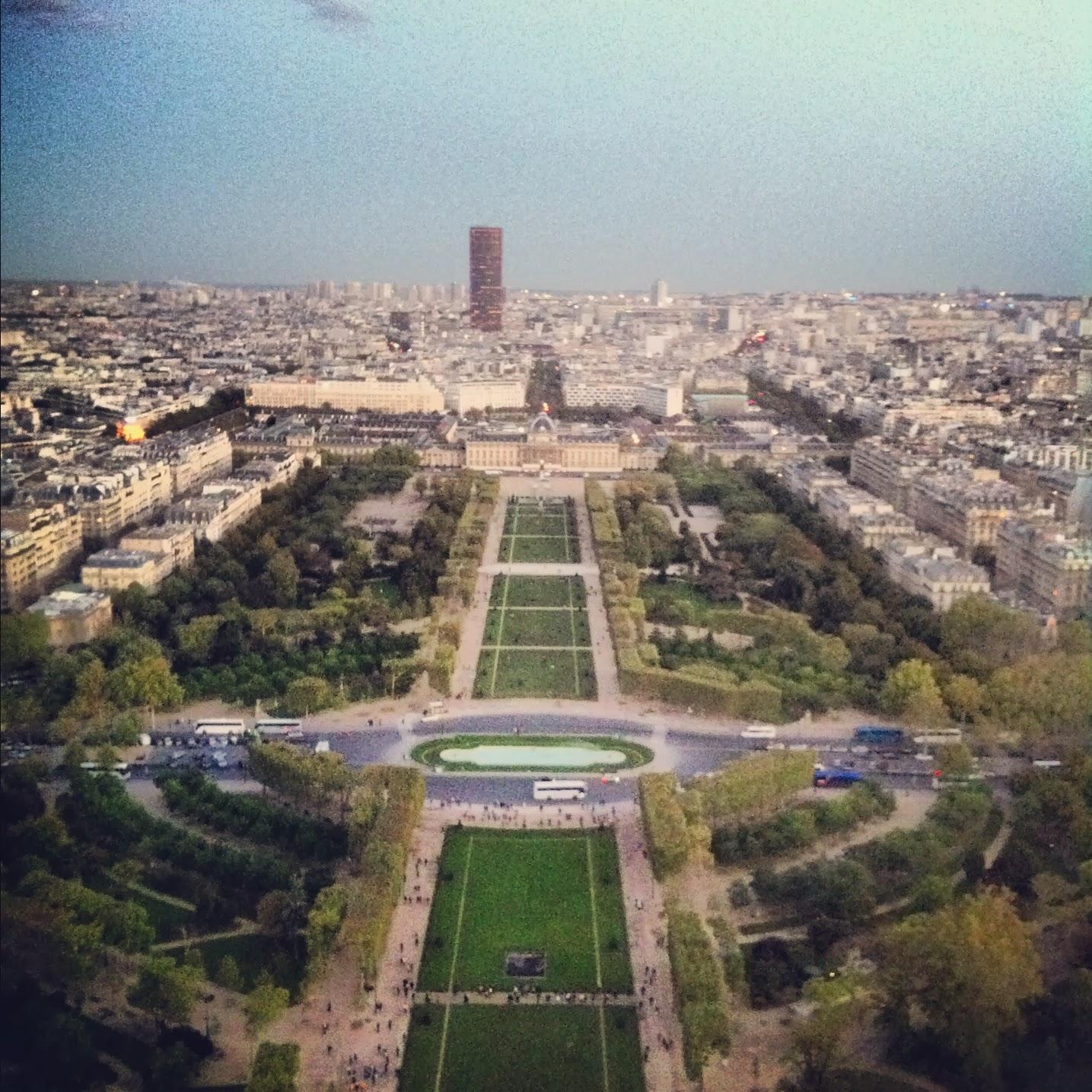 Campos de Marte desde la Torre Eiffel